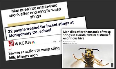 Stinging insects can cause serious harm to the public.