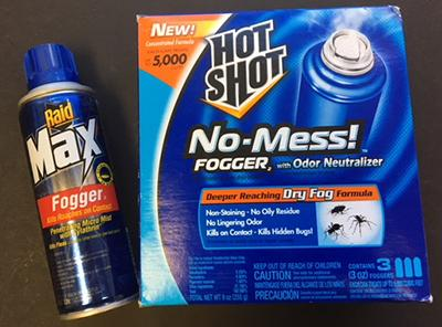 Total release insecticide foggers ('bug bombs') are widely marketed to the public.